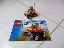 Lego City Garde Côtiere Coast guard Quad Bike 7736 avec notice