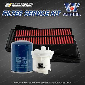 Wesfil Oil Air Fuel Filter Service Kit for Honda Jazz GD 1.3L 1.5L Petrol 04-06