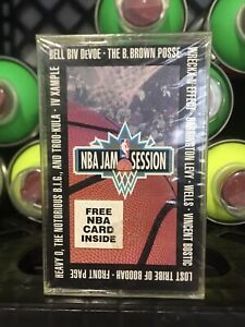 SEALED NBA Jam Session Cassette Tape W/ NBA Card 1994 PROMO Rap Hip Hop Rare Oop