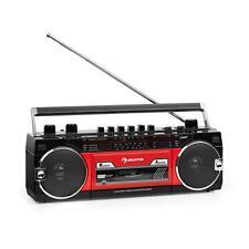 Ghettoblaster Stereo Portatile Boombox Radio Bluetooth Antenna Cassette USB SD