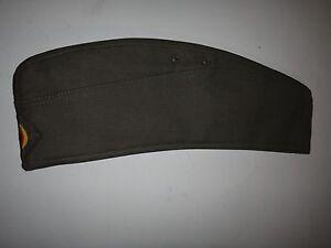 Armée Allemande Vert Od Garrison Chapeau Casquette Avec Original Label Schmidt +