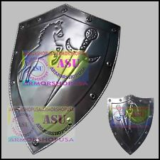 Medieval Knight Shield Iron Steel Viking Spartan Warrior Role Play Costume Armor