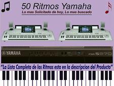 50 RITMOS MEXICANOS  , PSR, TYROS, DGX, YPG, YAMAHA STYLES