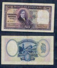 PORTUGAL RARO BILLETE de 50 ESCUDOS. 17 Septiembre 1929. Serie CP 04055.