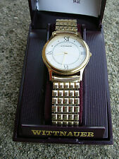 Wittnauer Product of Wittnauer International Mens Gold Tone Watch