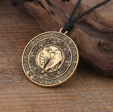 Odins Raven Triple Moon Wiccan Pentacle Pentagram Gothic Pendant Crow Necklace