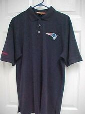NEW ENGLAND PATRIOTS Budweiser NFL Men Blue Short Sleeve Polo Shirt L Harrington
