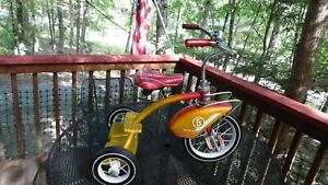 Mid centuryMurray 5 Tricycle, Padded Glitter Seat, Ball Bearing, Large Fender