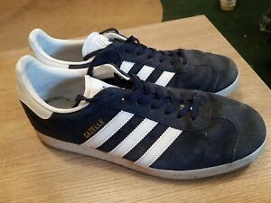 Adidas Gazelle mens trainers Navy blue and white uk size 9 eu 43