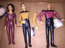 "Lot Of 3 10"" 1992 Star Trek The Next Generation Data , Picard & Deanna Troi"