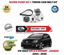 FOR VOLKSWAGEN VW GOLF 2.0 GTi 2004-> TIMING BELT TENSIONER KIT + WATER PUMP SET