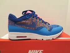 NIKE AIR MAX 1 ULTRA FLYKNIT 843387 400 Photo Blue womens sneaker shoe size 8