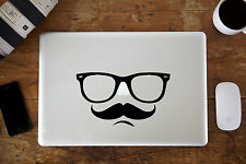 "Hipster Glasses & Moustache Decal Sticker for Apple MacBook Air/Pro 12"" 13"" 15"""