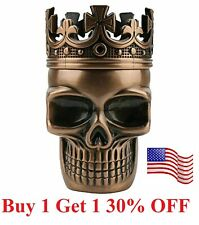 Tobacco Herb Spice Grinder Copper Punk King Skeleton Skull Smoke Crusher Tool Us