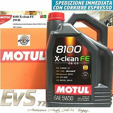 5 Litri Motul 8100 X-Clean FE 5W30 C2 C3 Olio Motore Auto FIAT 9.55535 - S1 S3