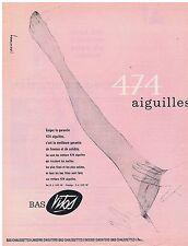 PUBLICITE ADVERTISING 054 1963 VITOS Bas 474 aiguilles