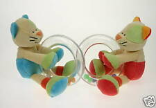**NEW baby safe soft plush toy CAT RATTLE baby girl GIFT