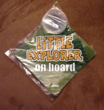 """JEEP Window Cling Suction Car Sign """"little Explorer On Board"""" Baby On Board"""