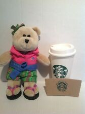 2007 Starbucks Bearista Bear 62nd Limited Edition Rare Bear W/Reusable Cup