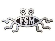 Flying Spaghetti Monster Raised Chrome-Like Finish Car Emblem FSM Pastafarian