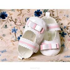 Bebé niñas flor Zapatos de Patentes Blanco Niña Bautizo Boda Formal Fiesta 3-18m