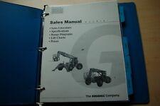 GRADALL 2002 Telehandler Telescoping forklift Sales Brochure Price List Manual