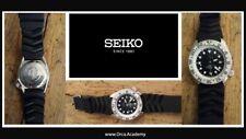 Rare Seiko Diver's Men's Black Watch - Rubber Strap