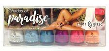China Glaze Nail Lacquer MINI - SHADES OF PARADISE - 6 Colors x 0.125oz