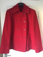 RED WOOL MIX JACKET