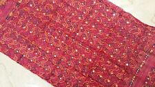New Indian Dupatta Cotton Hijab Wraps Kutch Embroidered Long Veil Scarf Pink