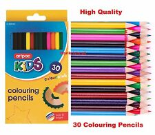 30 x LARGE COLOURING COLORING PENCIL PACK FOR SCHOOL CLASS CHILDREN/KIDS ART