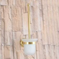 Gold Color Brass Bathroom Accessories Wall Mounted Bathroom Toilet Brush Holder