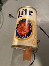 Vintage Antique Miller Lite Pilsner Wall Sconce Bar Light Beer Lamp Pub