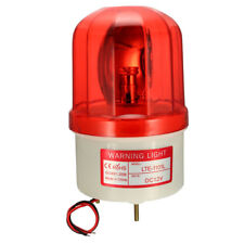 LED Warning Light Bulb Rotating Flashing Industrial Signal Tower Lamp DC 12v Red