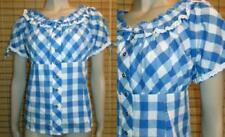 Markenlose Kurzarm Damen-Trachtenblusen in Größe 42