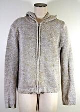 J. Crew Knit Sweater L Large Women's Full Zip Hooded 100% Cotton