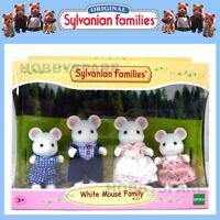 NEW SYLVANIAN FAMILIES WHITE MOUSE FAMILY  DOLL FIGURE SET 4121
