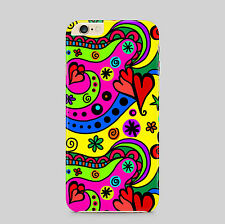 Abstract Love Hearts Red Swirls Phone Case Cover