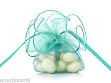 20 sacchetti organza TIFFANY confetti bomboniera BATTESIMO WRG6-011 fai da te