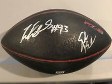John Abraham & Ray Edwards Autographed Football Signed Auto Atlanta Falcons COA