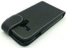 Extra Fine Black Leather Flip Pouch Case Cover fr Samsung Galaxy S3 Mini i8190
