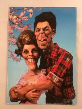 Spitting Image Ronald & Nancy Reagan 1981 Clouded Tiger 1st Edition Postcard