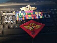 USMC FLEET FORCE OFFICER BADGE  RIBBONS ,