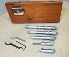 Scherr Tumico Fixed Inside Micrometer Set 2 6 Nice Starrett Mitutoyo