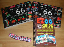 ROUTE 66 TRAVELERS PACK w/ IMAGES of 66 Vol 1 & 2 & NEW 4th EDITION EZ 66 GUIDE