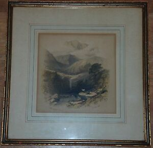 1847 Color Lithograph of Gerlos Pass by George Herring
