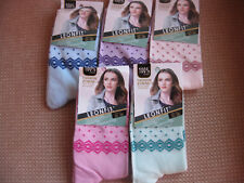 Ladies/Girls cotton socks by Leonfit, sizes 3-5, 5-7,dots and diamond border