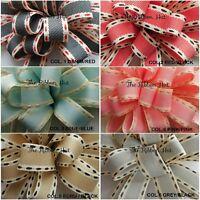 15MM Vintage Stitch Ribbon 6 Colours, 3 Lengths by Berisfords