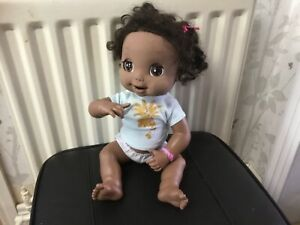 Baby Alive 2006 Soft Face Interactive Doll Working Hasbro brown eyes
