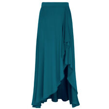 Women Fashion Belly Dancing Dance Skirt Tribal Ballet Latin Long Maxi Skirt S
